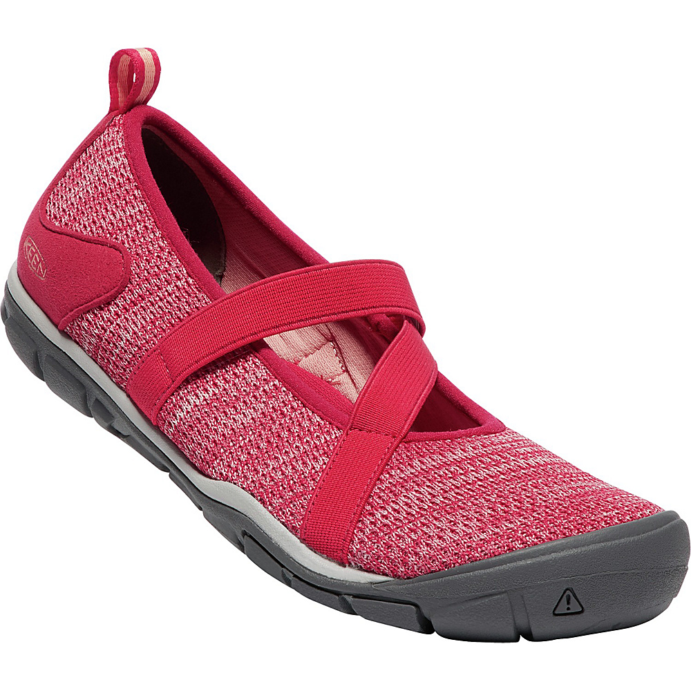 KEEN Womens Hush Knit CNX Mary-Janes 10 - Barberry/Teaberry - KEEN Womens Footwear - Apparel & Footwear, Women's Footwear