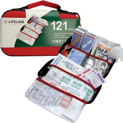 Lifeline First Aid EVA First Aid Kit, 121 Piece Red - Lifeline First Aid Travel Health & Beauty