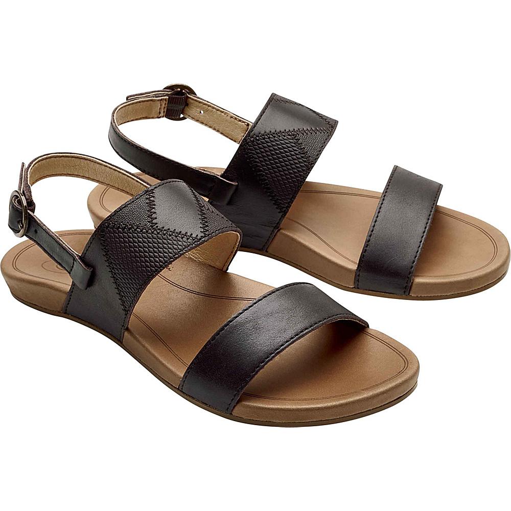 OluKai Womens Hiona PaI Sandals 5 - Dark Java/Tan - OluKai Womens Footwear - Apparel & Footwear, Women's Footwear