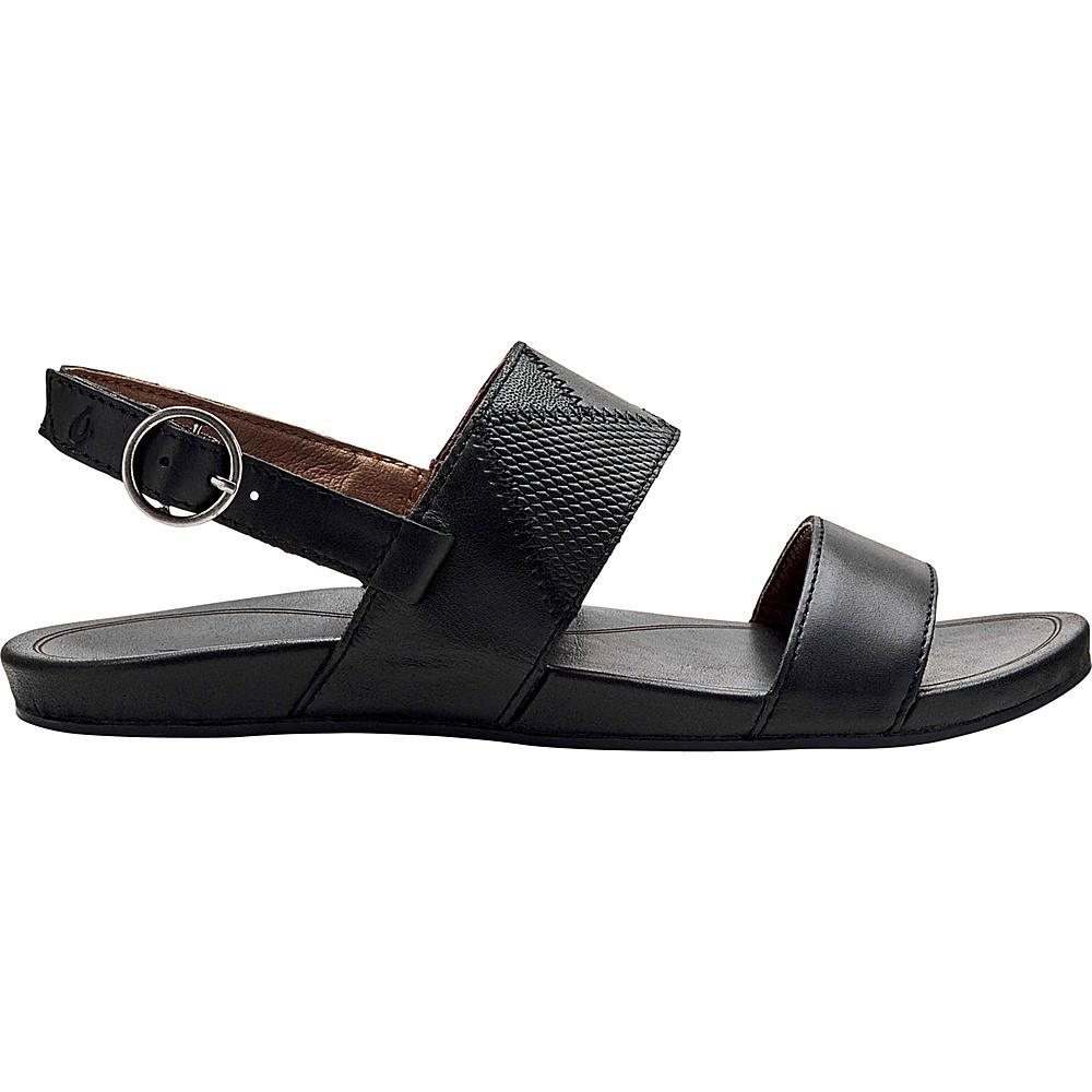 OluKai Womens Hiona PaI Sandals 11 - Black/Black - OluKai Womens Footwear - Apparel & Footwear, Women's Footwear