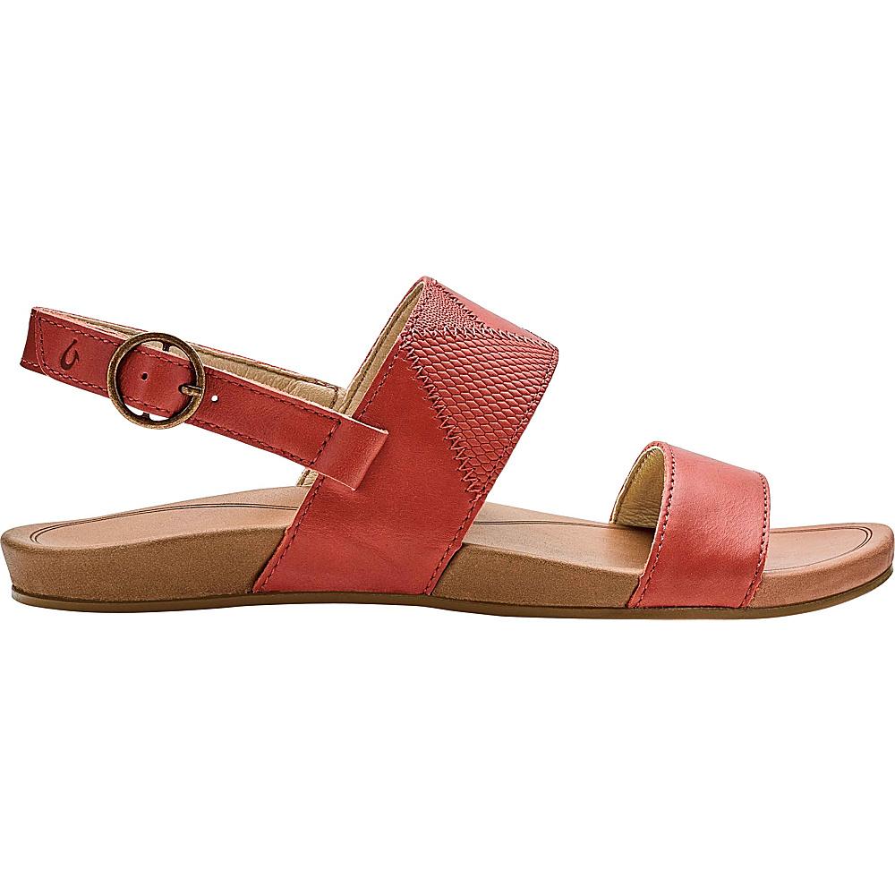 OluKai Womens Hiona PaI Sandals 7 - Paprika/Tan - OluKai Womens Footwear - Apparel & Footwear, Women's Footwear