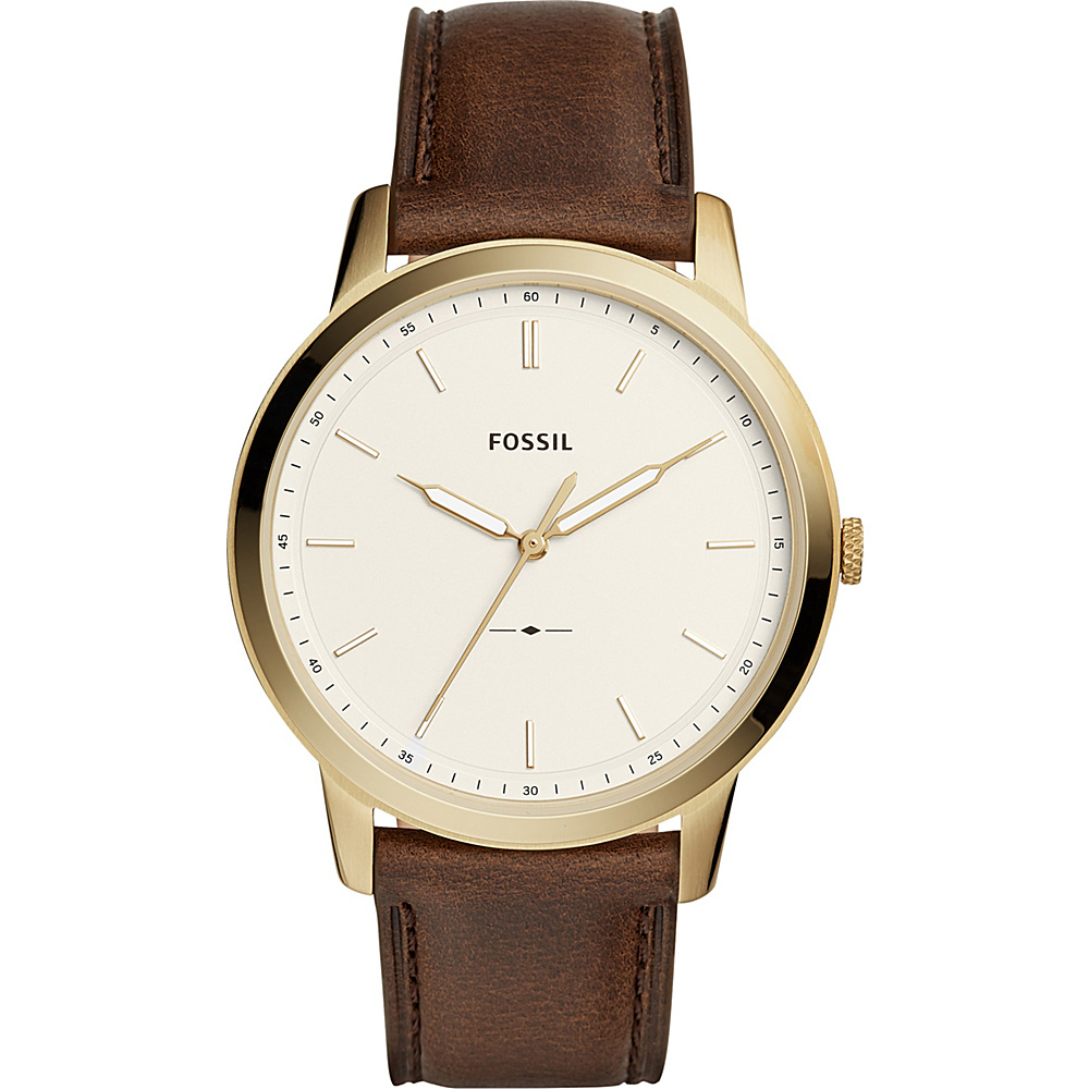 Fossil The Minimalist Three-Hand Brown Leather Watch Brown - Fossil Watches - Fashion Accessories, Watches
