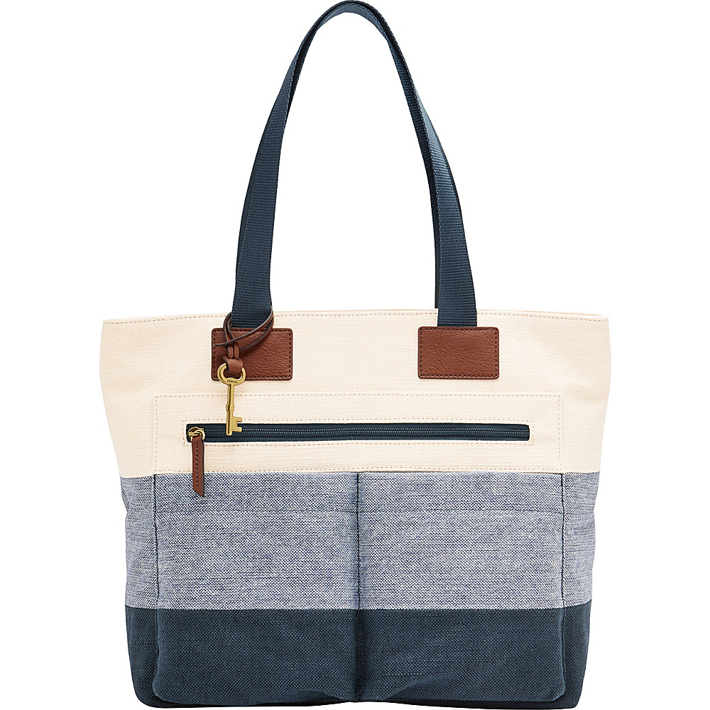 Fossil Bailey Tote Neutral Multi - Fossil Fabric Handbags - Handbags, Fabric Handbags
