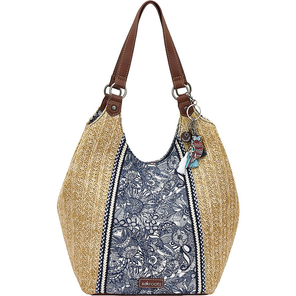 Sakroots Roma Shopper Navy Spirit Desert - Sakroots Fabric Handbags - Handbags, Fabric Handbags