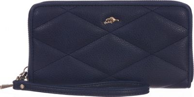 Roots 73 Zip Around Wristlet and Cellphone Holder Navy - Roots 73 Women's Wallets