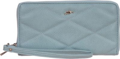 Roots 73 Zip Around Wristlet and Cellphone Holder Powder Blue - Roots 73 Women's Wallets