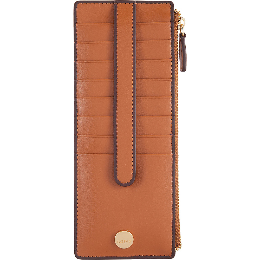 Lodis Rodeo RFID Credit Card Case With Zipper Pocket Toffee - Lodis Womens Wallets - Women's SLG, Women's Wallets