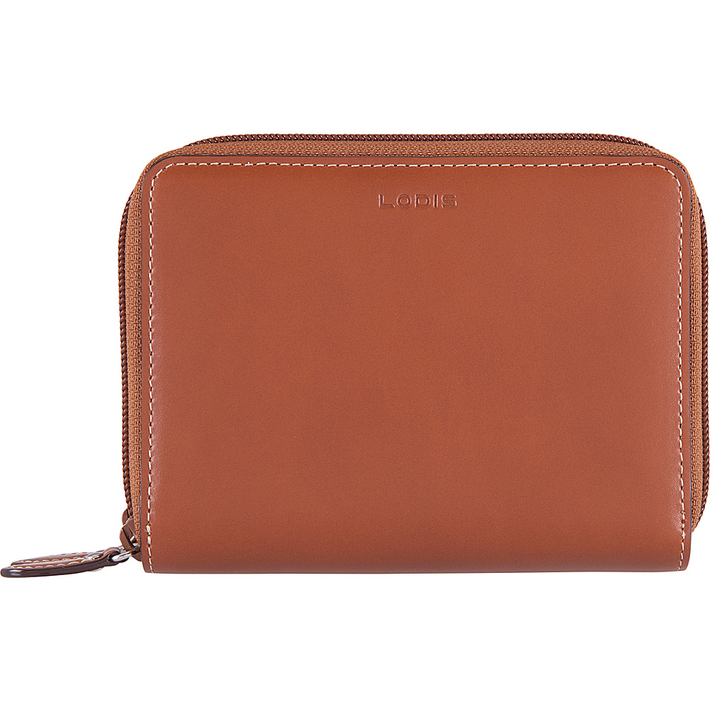 Lodis Audrey RFID Laney Continental Double Zip Wallet Sequoia/Papaya - Lodis Womens Wallets - Women's SLG, Women's Wallets