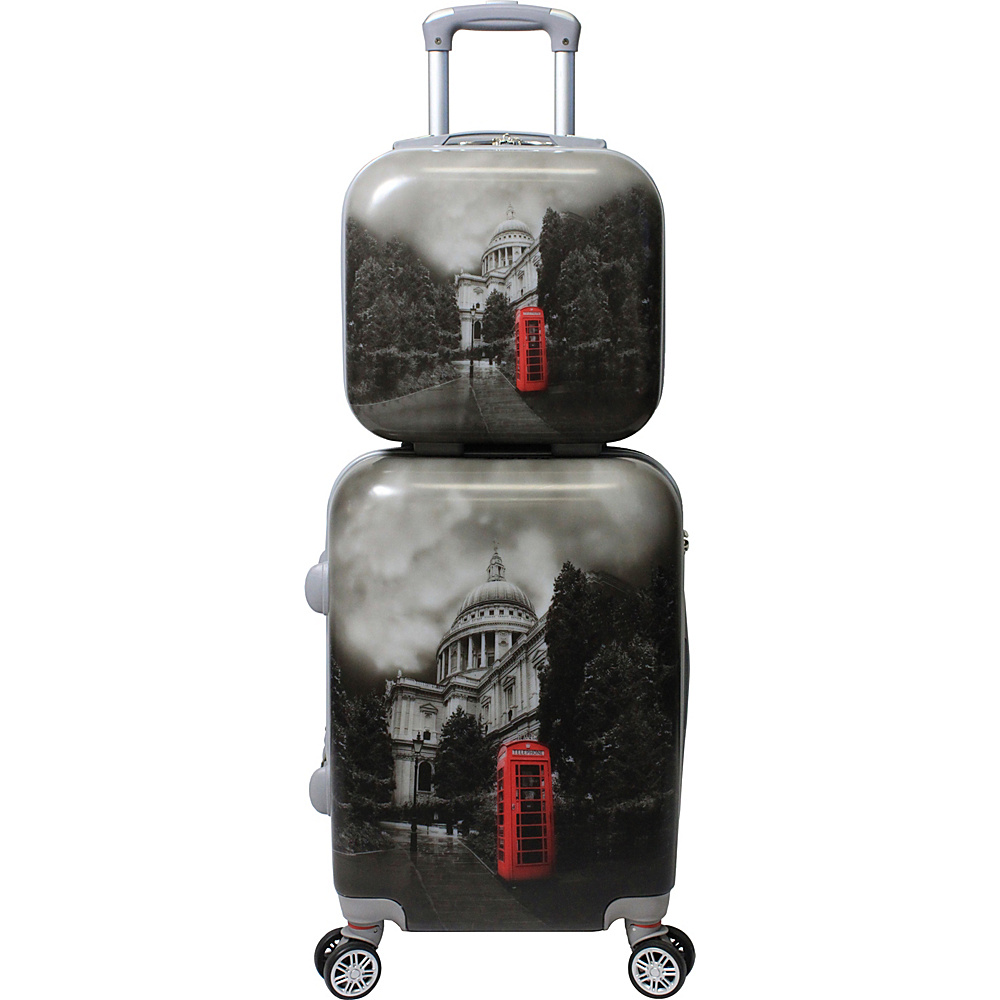 World Traveler Destination 2 Piece Carry-on Hardside Spinner Luggage Set London - World Traveler Luggage Sets - Luggage, Luggage Sets