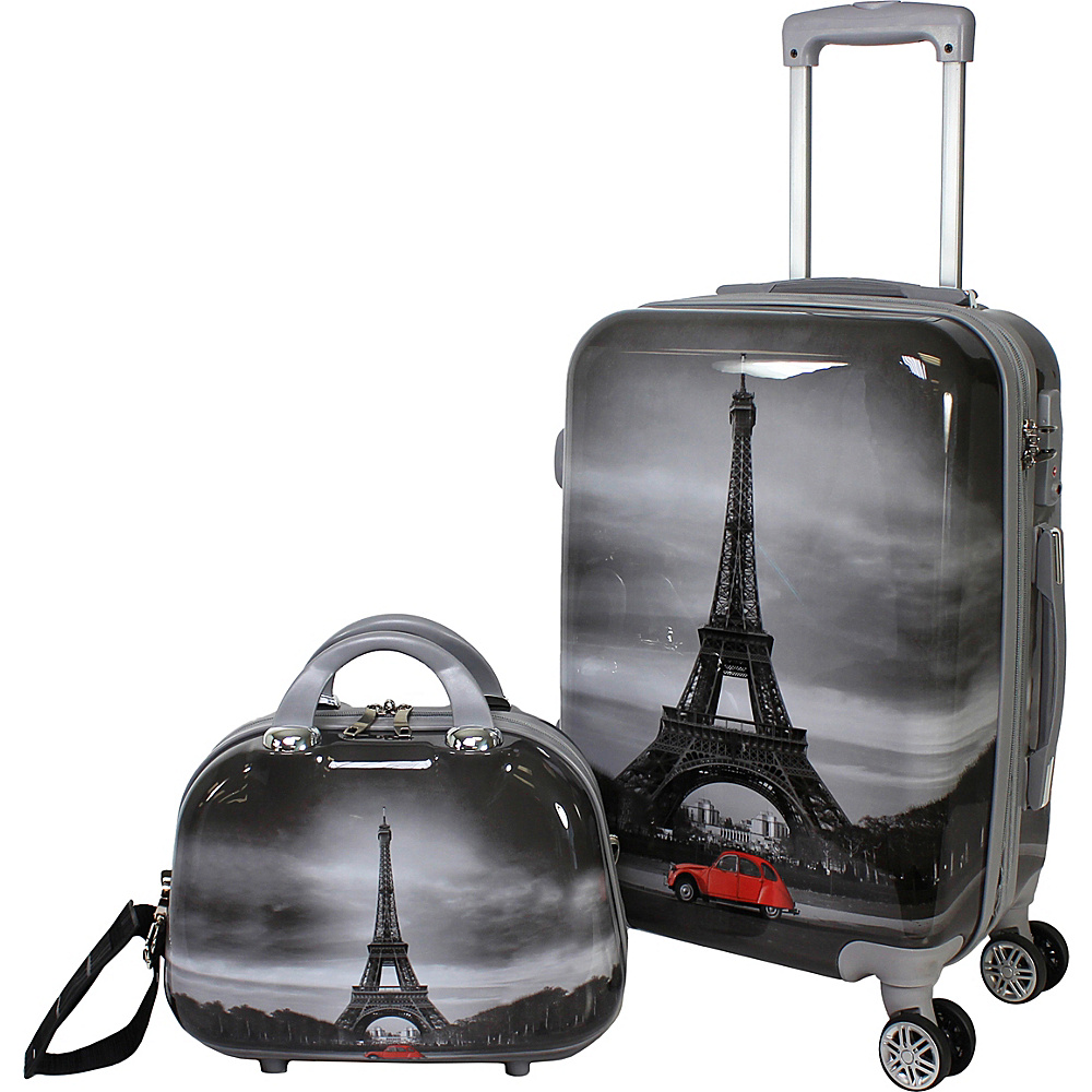 World Traveler Destination 2 Piece Carry-on Hardside Spinner Luggage Set Paris - World Traveler Luggage Sets - Luggage, Luggage Sets