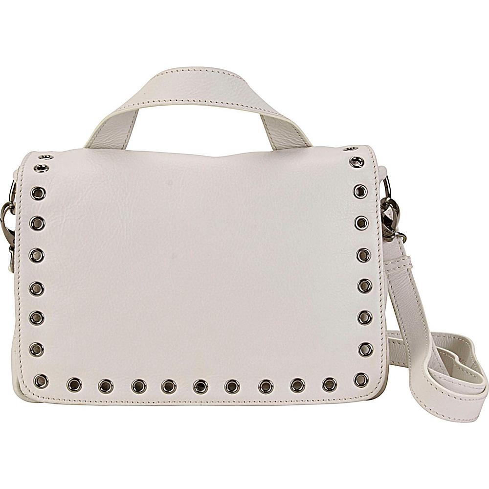 Hadaki Grommet Messenger Ivory - Hadaki Leather Handbags - Handbags, Leather Handbags
