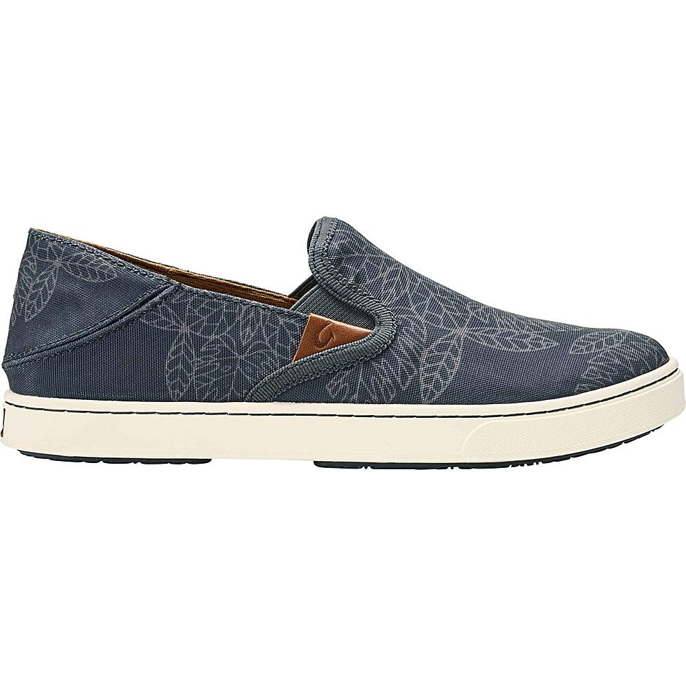 OluKai Womens Pehuea POW! WOW! Slip-On 6 - Dark Shadow/Charcoal - OluKai Womens Footwear - Apparel & Footwear, Women's Footwear