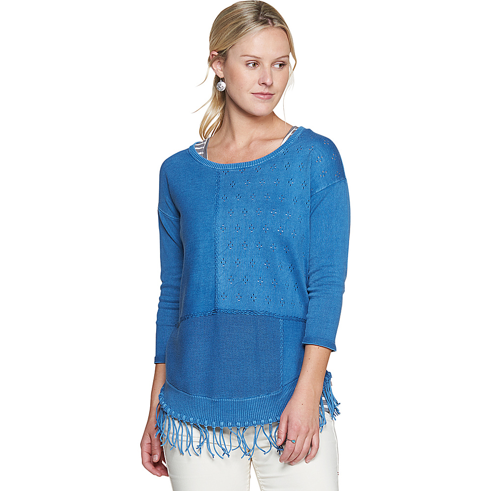 Toad & Co Womens Woodstock Pullover XS - Bright Indigo - Toad & Co Womens Apparel - Apparel & Footwear, Women's Apparel