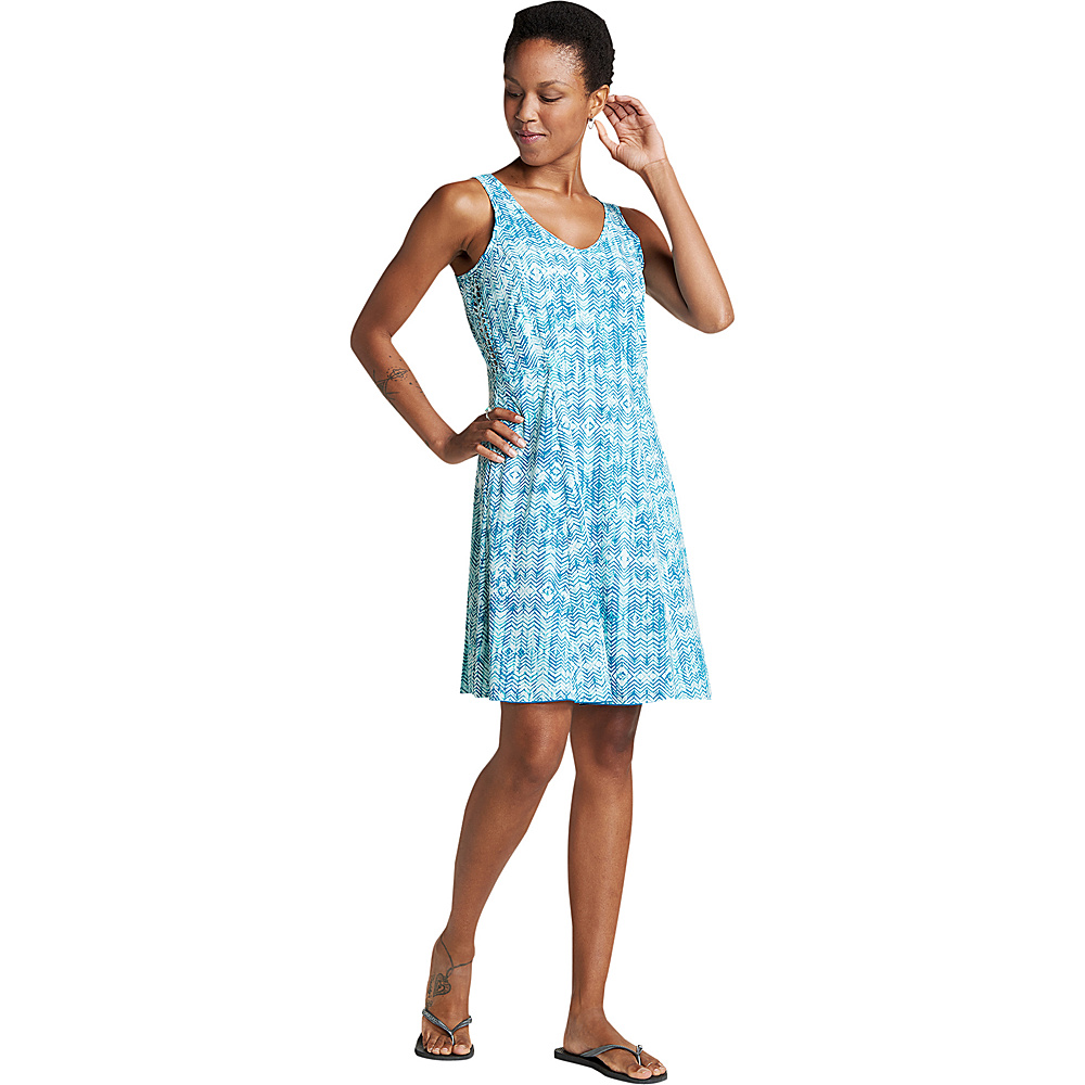 Toad & Co Womens Sunkissed Cutout Dress S - Deepwater Herringbone Print - Toad & Co Womens Apparel - Apparel & Footwear, Women's Apparel
