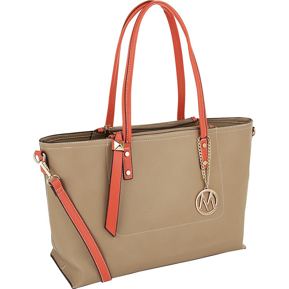 MKF Collection by Mia K. Farrow Sicilia Lightweight Tote Beige - MKF Collection by Mia K. Farrow Manmade Handbags - Handbags, Manmade Handbags