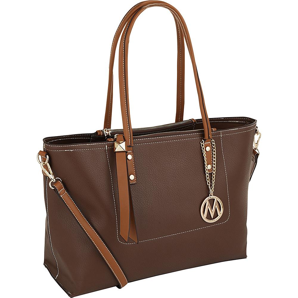 MKF Collection by Mia K. Farrow Sicilia Lightweight Tote Brown - MKF Collection by Mia K. Farrow Manmade Handbags - Handbags, Manmade Handbags