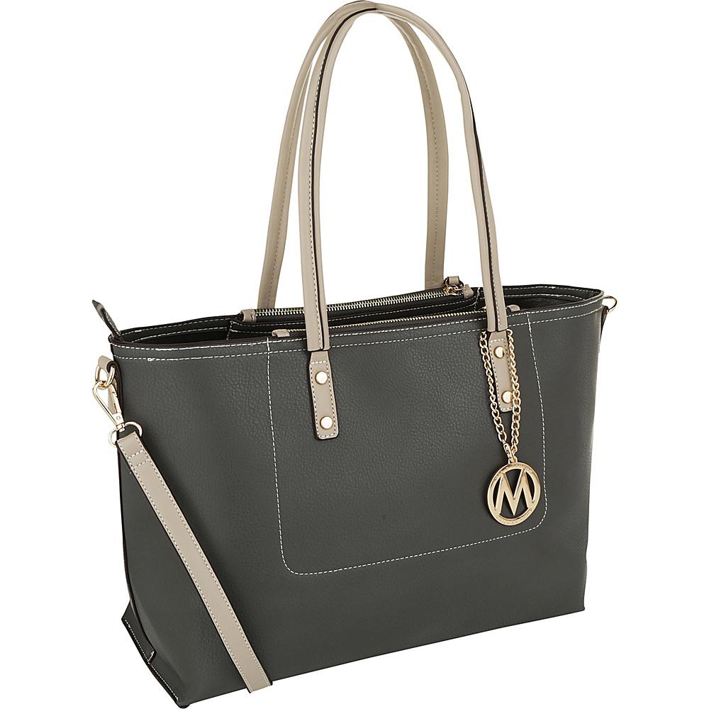 MKF Collection by Mia K. Farrow Sicilia Lightweight Tote Grey - MKF Collection by Mia K. Farrow Manmade Handbags - Handbags, Manmade Handbags