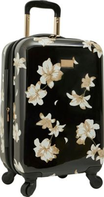 Vince Camuto Luggage Corinn 20 inch Expandable Hardside Spinner Carry-On Luggage Black - Vince Camuto Luggage Hardside Carry-On