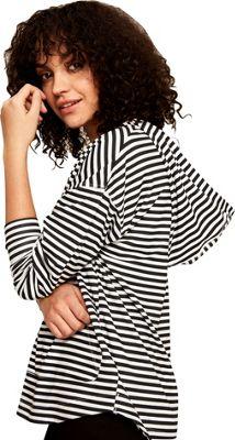Lole Elisna Top XS - Black White Stripes - Lole Women's Apparel