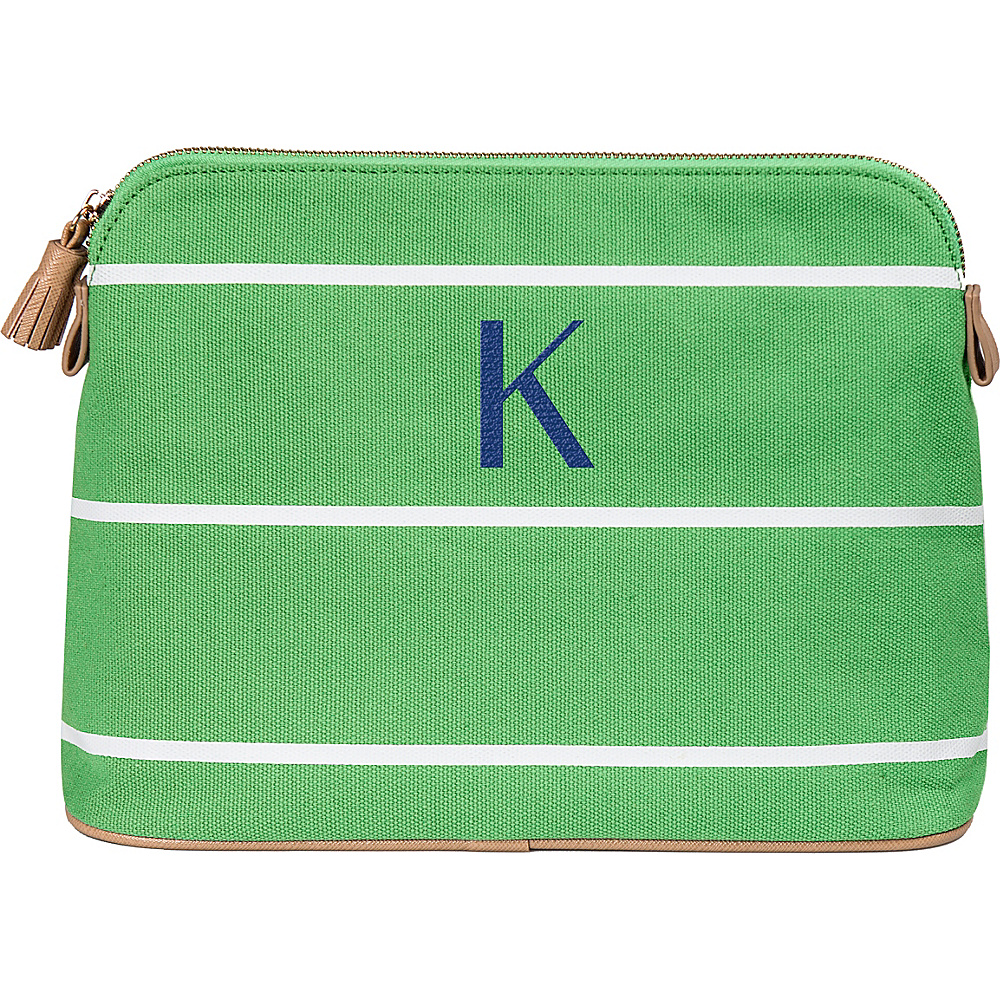 Cathys Concepts Monogram Cosmetic Bag Green - K - Cathys Concepts Toiletry Kits - Travel Accessories, Toiletry Kits