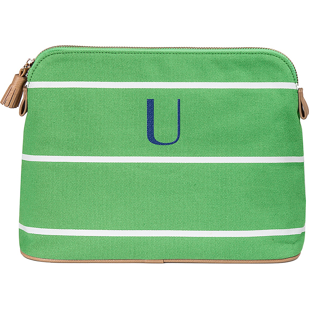 Cathys Concepts Monogram Cosmetic Bag Green - U - Cathys Concepts Toiletry Kits - Travel Accessories, Toiletry Kits