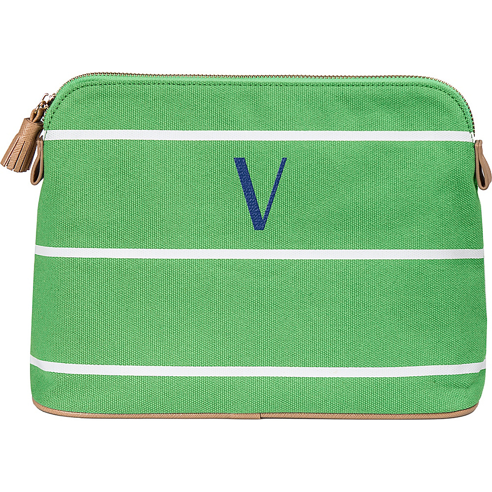 Cathys Concepts Monogram Cosmetic Bag Green - V - Cathys Concepts Toiletry Kits - Travel Accessories, Toiletry Kits