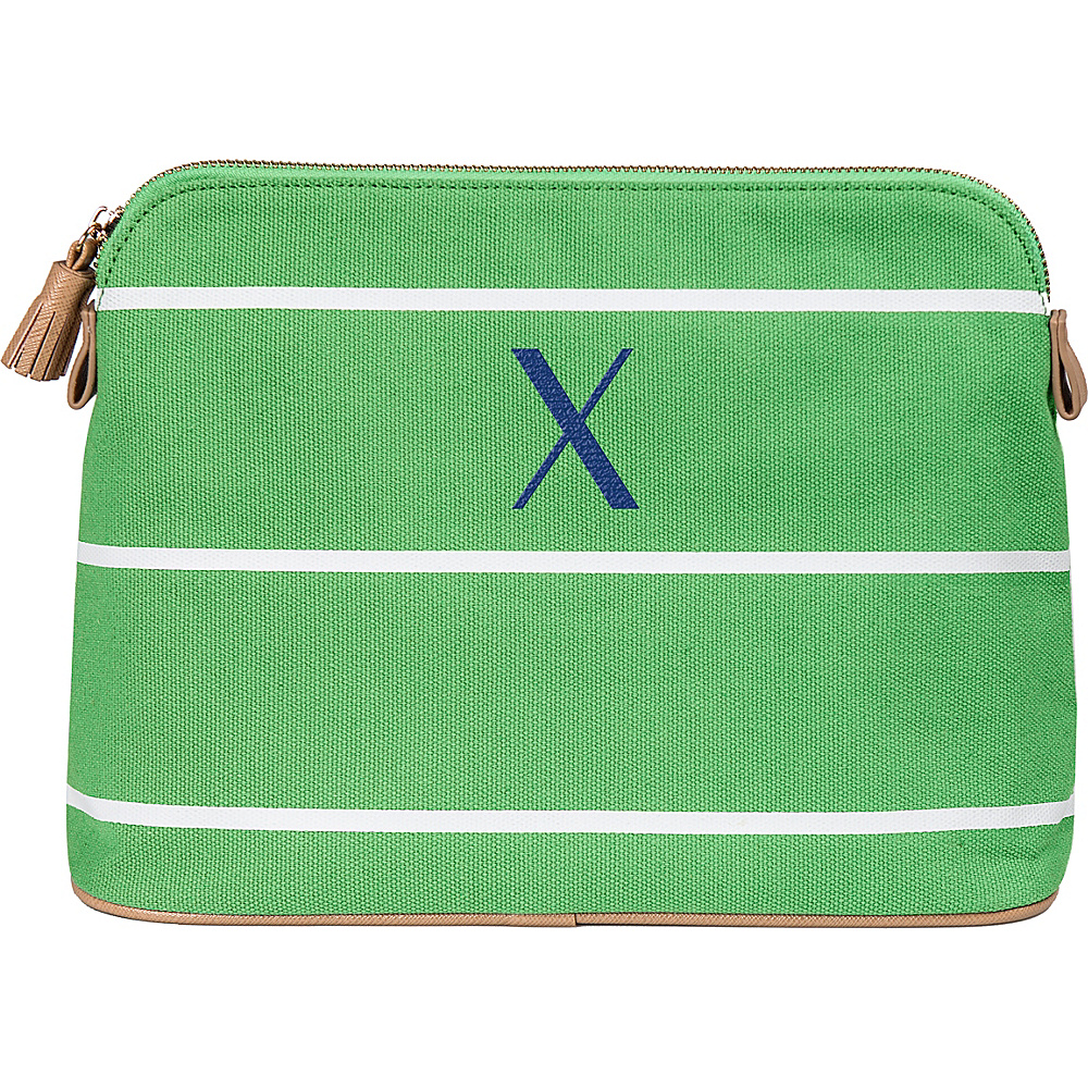 Cathys Concepts Monogram Cosmetic Bag Green - X - Cathys Concepts Toiletry Kits - Travel Accessories, Toiletry Kits