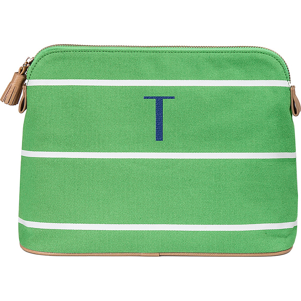 Cathys Concepts Monogram Cosmetic Bag Green - T - Cathys Concepts Toiletry Kits - Travel Accessories, Toiletry Kits