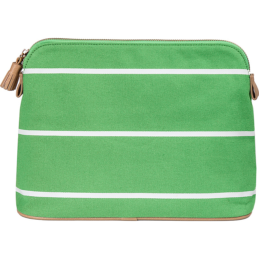 Cathys Concepts Monogram Cosmetic Bag Green Plain - Cathys Concepts Toiletry Kits - Travel Accessories, Toiletry Kits