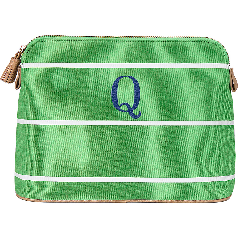 Cathys Concepts Monogram Cosmetic Bag Green - Q - Cathys Concepts Toiletry Kits - Travel Accessories, Toiletry Kits
