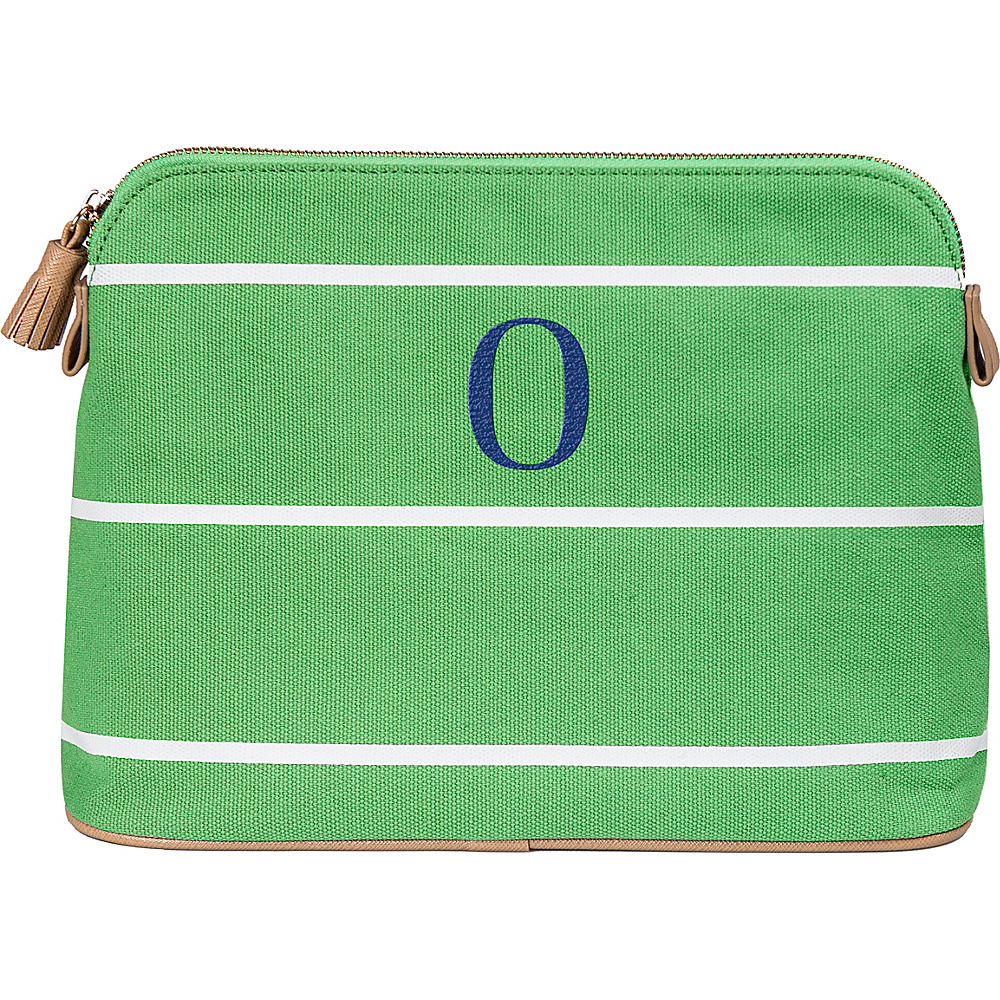 Cathys Concepts Monogram Cosmetic Bag Green - O - Cathys Concepts Toiletry Kits - Travel Accessories, Toiletry Kits