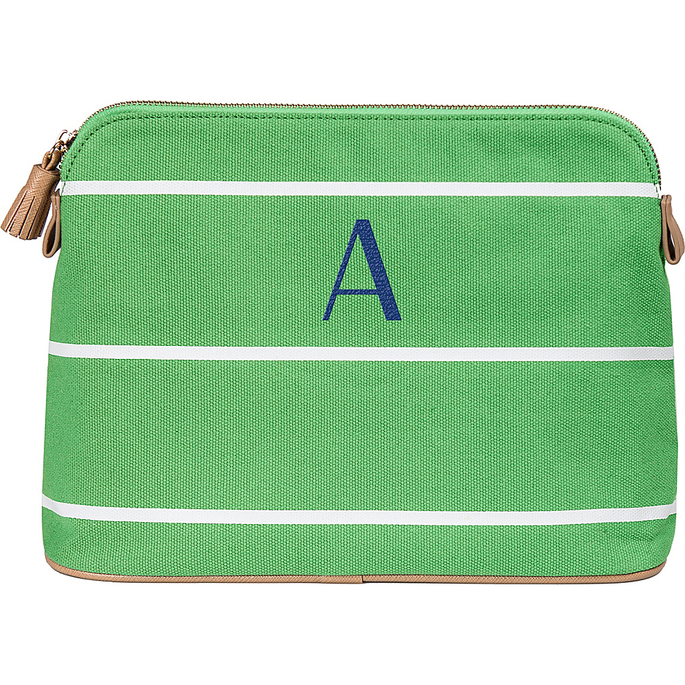 Cathys Concepts Monogram Cosmetic Bag Green - A - Cathys Concepts Toiletry Kits - Travel Accessories, Toiletry Kits