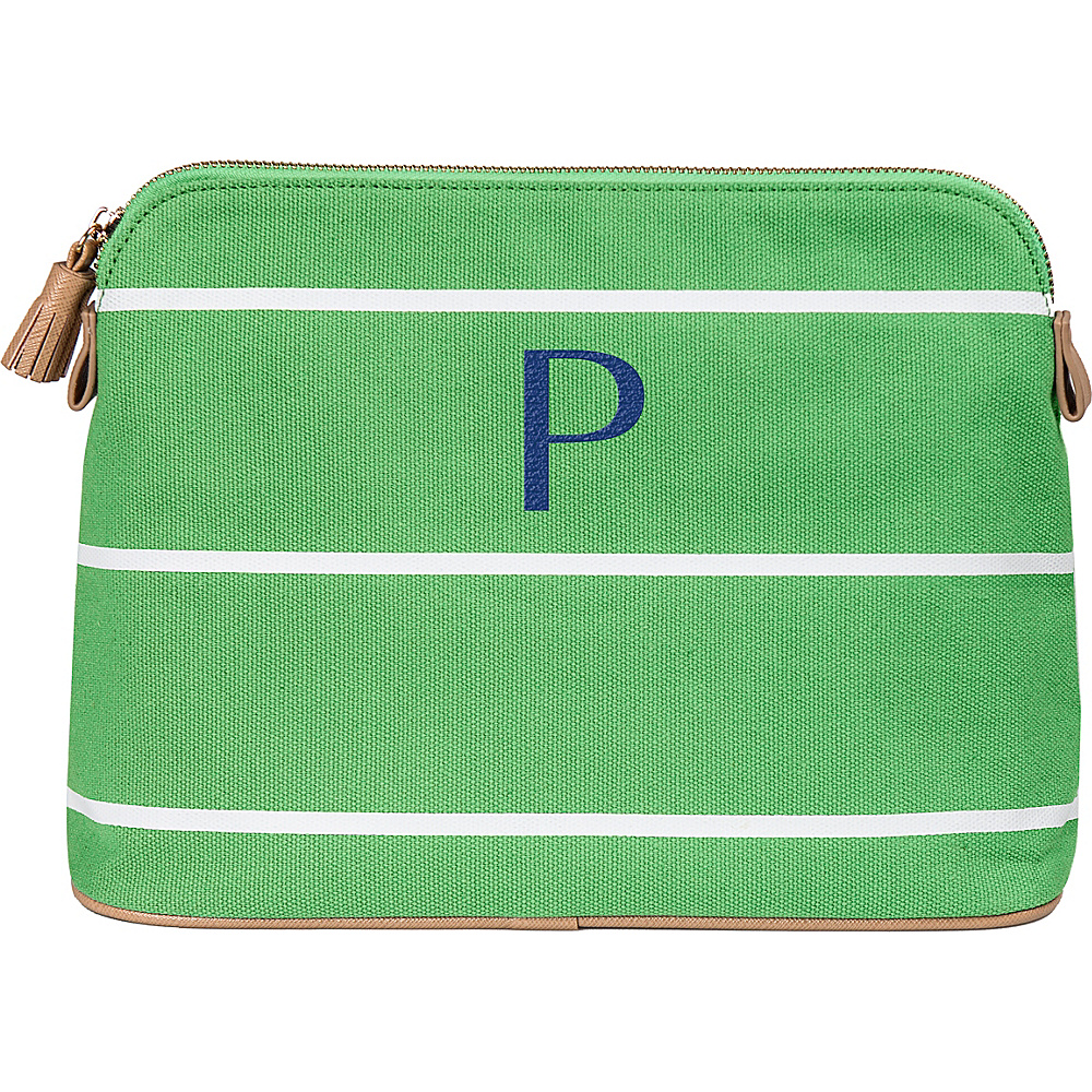 Cathys Concepts Monogram Cosmetic Bag Green - P - Cathys Concepts Toiletry Kits - Travel Accessories, Toiletry Kits