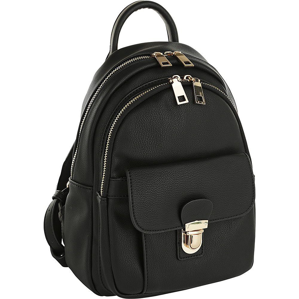 MKF Collection by Mia K. Farrow Lina Trendy Backpack Black - MKF Collection by Mia K. Farrow Manmade Handbags - Handbags, Manmade Handbags