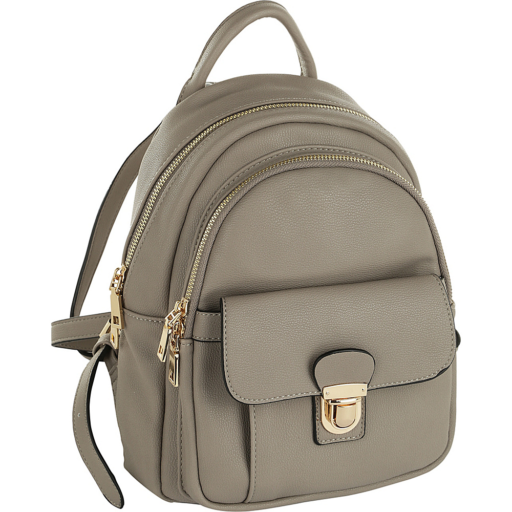MKF Collection by Mia K. Farrow Lina Trendy Backpack Light Grey - MKF Collection by Mia K. Farrow Manmade Handbags - Handbags, Manmade Handbags