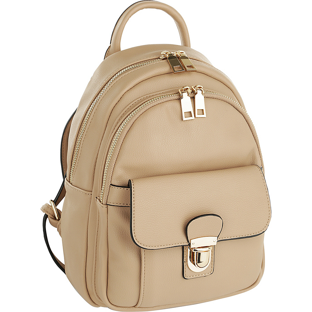 MKF Collection by Mia K. Farrow Lina Trendy Backpack Khaki - MKF Collection by Mia K. Farrow Manmade Handbags - Handbags, Manmade Handbags