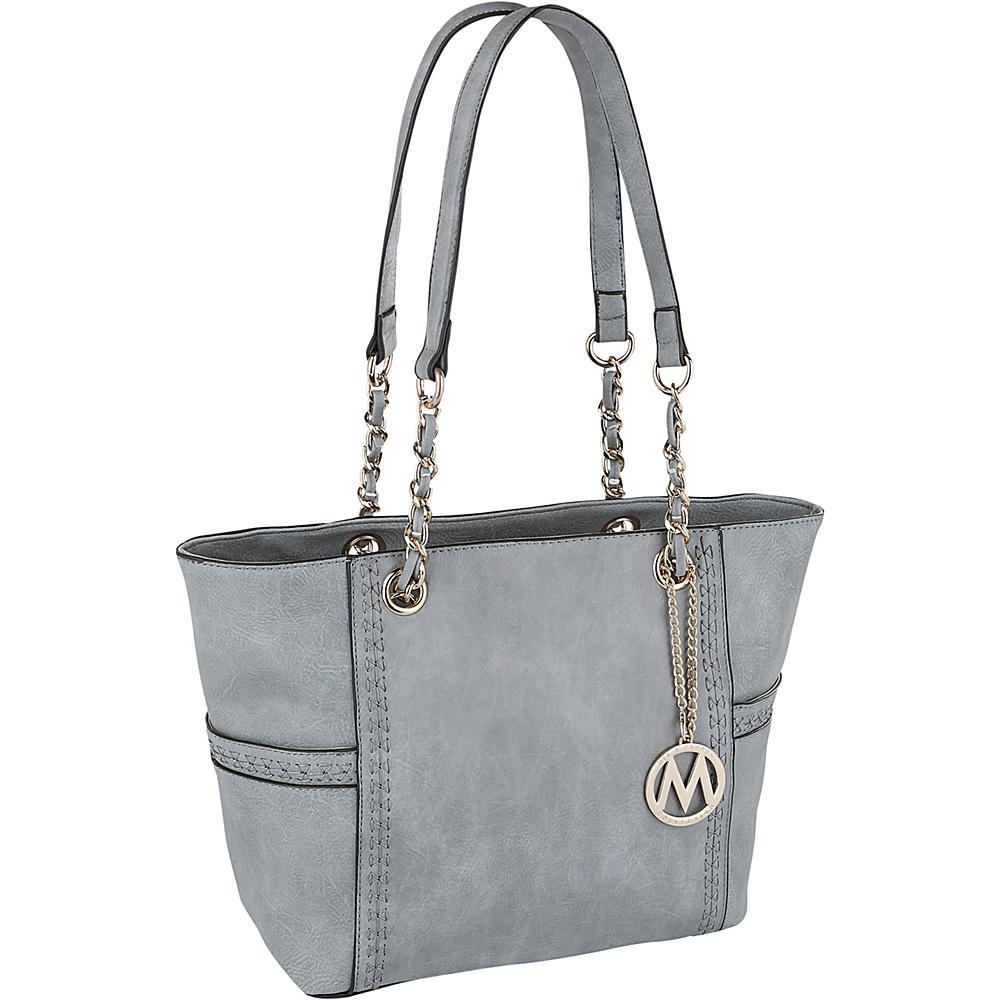 MKF Collection by Mia K. Farrow Gaby Hobo Grey - MKF Collection by Mia K. Farrow Manmade Handbags - Handbags, Manmade Handbags