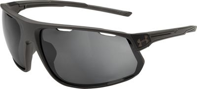 Under Armour Eyewear Strive Sunglasses Satin Carbon/Black/Graphite Polarized Mirror - Under Armour Eyewear Sunglasses