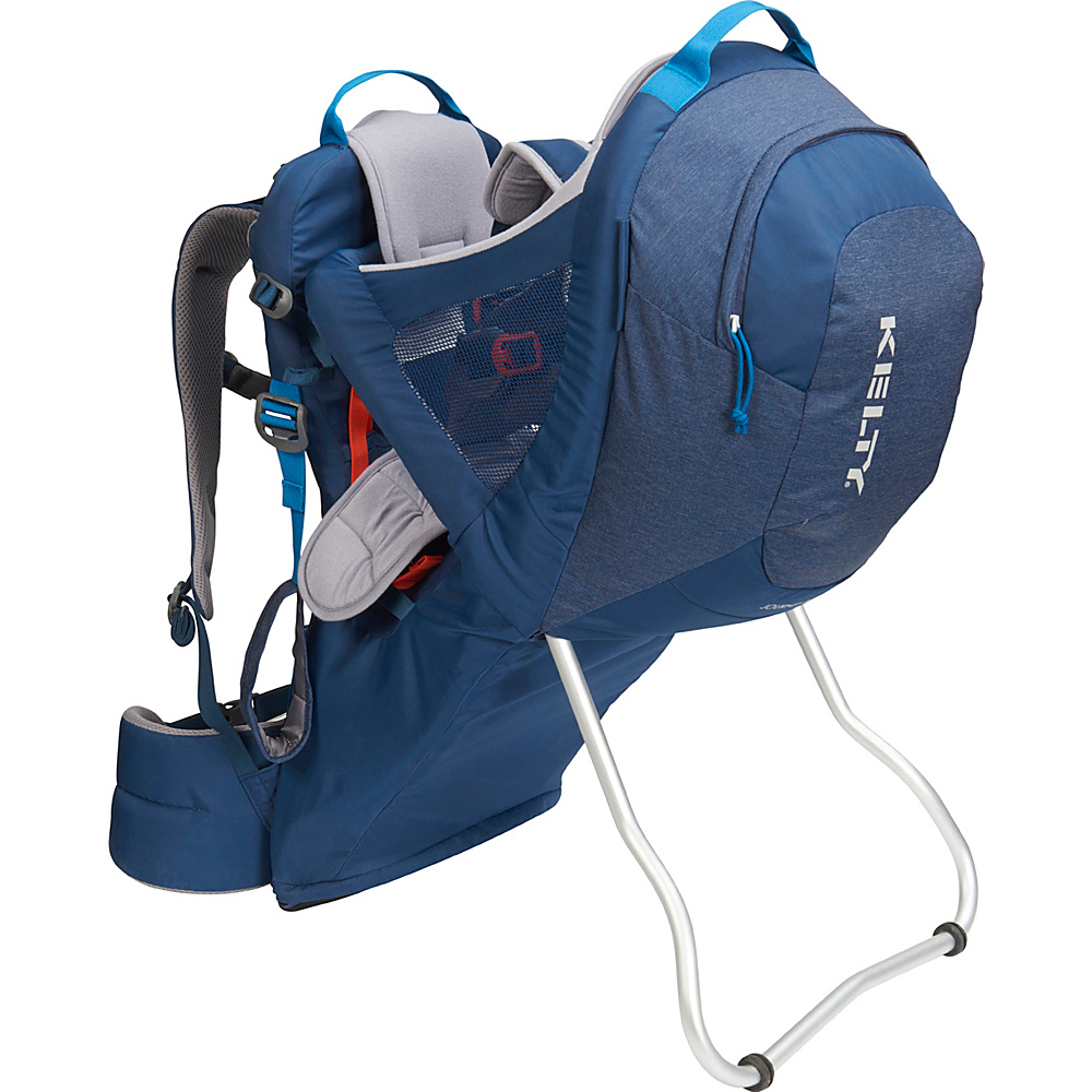 Kelty Journey PerfectFit Backpack Child Carrier Insignia Blue - Kelty Baby Carriers Journey PerfectFit Backpack Child Carrier Insignia Blue. Completely redesigned for 2018 with feedback from parents around the country, the new Kelty Child carriers offer best in class features and comfort. Developed with a pediatric specialist, our 5-point safety harness features a wide seat base and adjustable foot stirrups to offer proper positioning of the childs legs for health and all-day comfort.