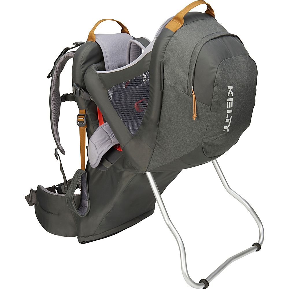 Kelty Journey PerfectFit Backpack Child Carrier Dark Shadow - Kelty Baby Carriers Journey PerfectFit Backpack Child Carrier Dark Shadow. Completely redesigned for 2018 with feedback from parents around the country, the new Kelty Child carriers offer best in class features and comfort. Developed with a pediatric specialist, our 5-point safety harness features a wide seat base and adjustable foot stirrups to offer proper positioning of the childs legs for health and all-day comfort.