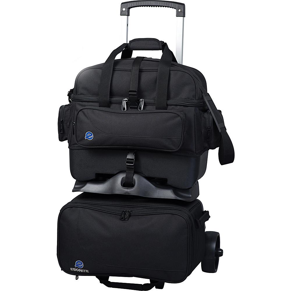 Ebonite Transport Four Ball Bowling Roller Bag Black Bags