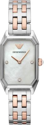 Emporio Armani Women's Two-Hand Two-Tone Stainless Steel ...
