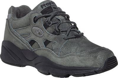Image of Propét USA Womens Stability Walker Shoe 6.5 - W (Wide) - Pewter Suede - Propét USA Women's Footwear