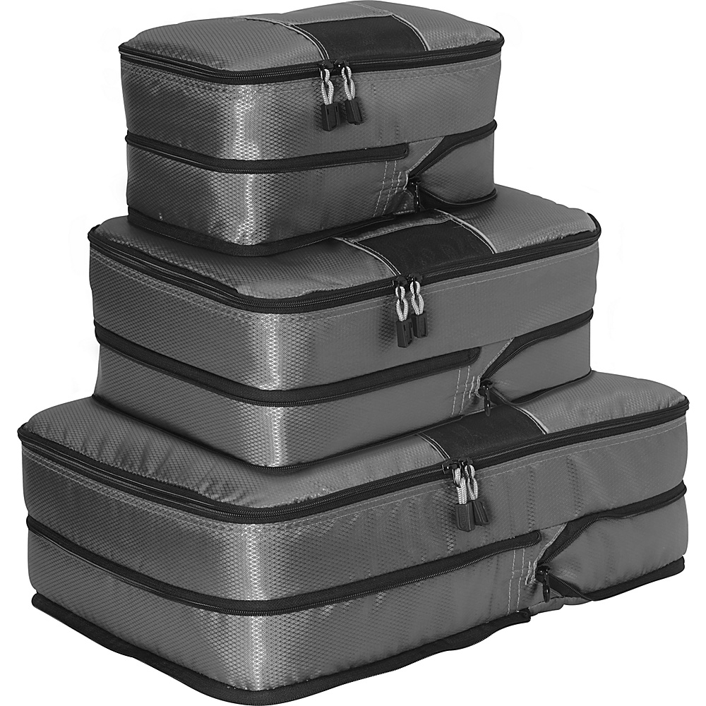 eBags Classic 3pc Compression Cubes Titanium - eBags Packing Aids