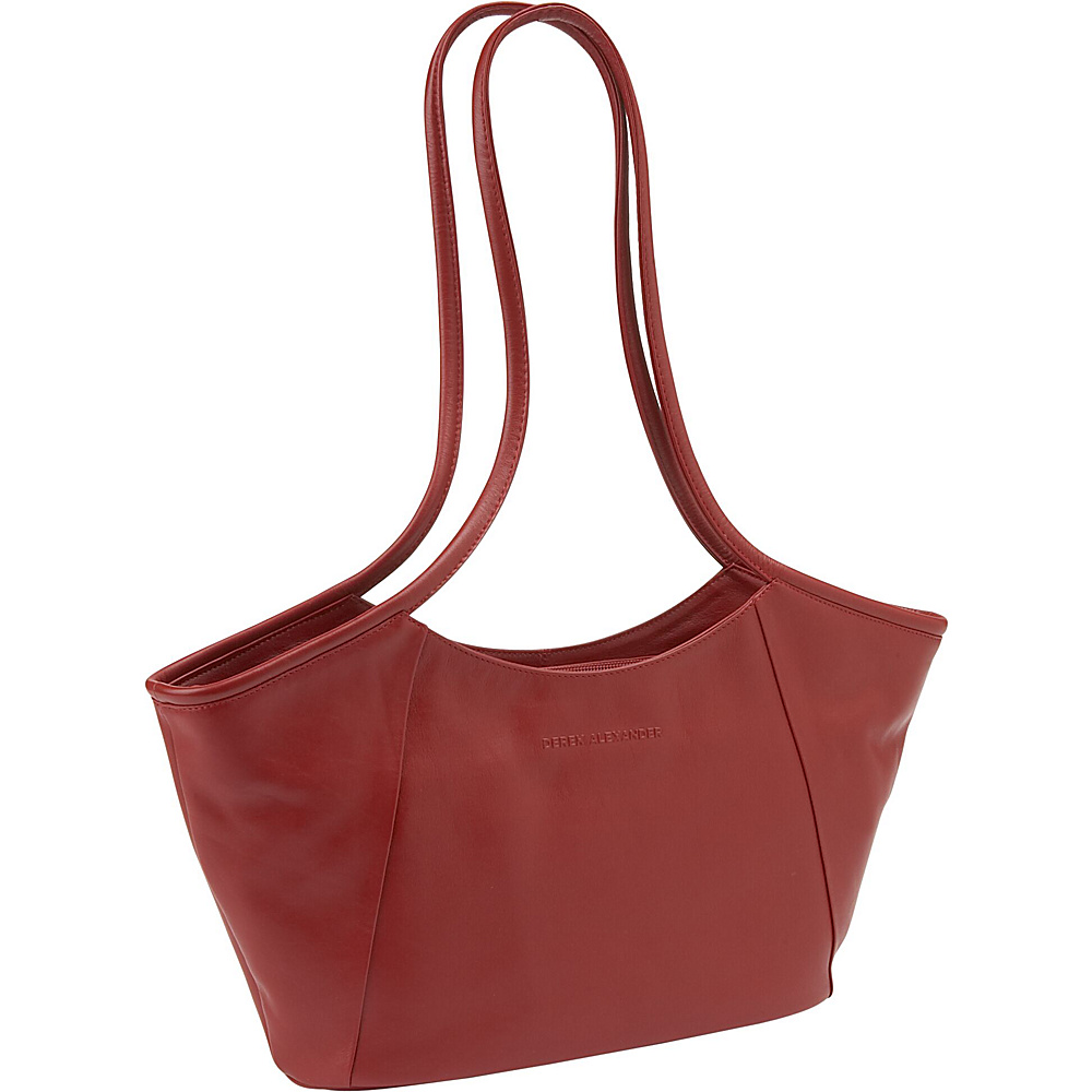 Derek Alexander East/West Geometric Tote - Red - Handbags, Leather Handbags