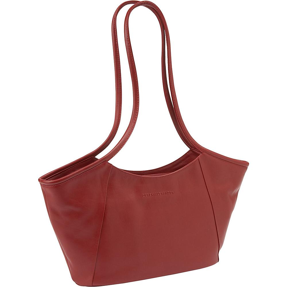 Derek Alexander East/West Geometric Tote - Red - Handbags, Leather Handbags