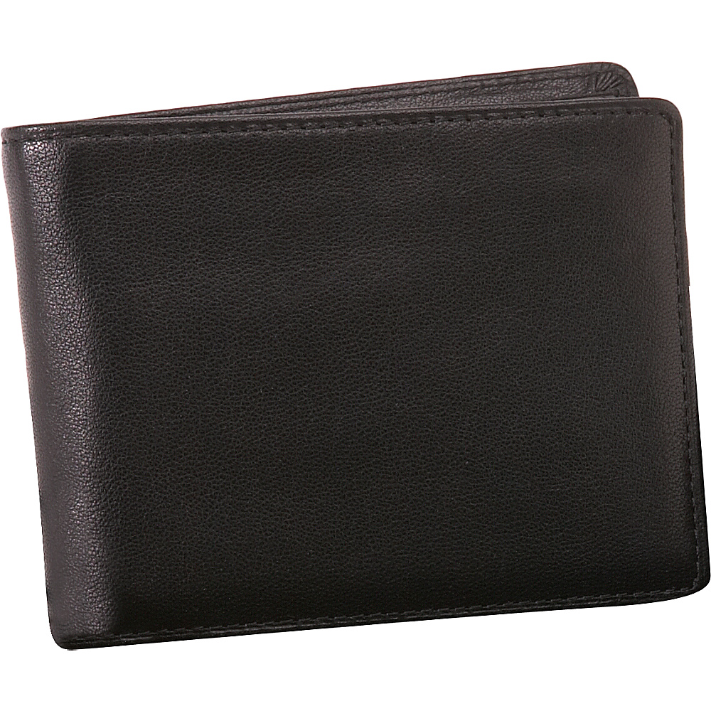 Buxton Modernist II Double ID Passcase Black - Buxton Mens Wallets - Work Bags & Briefcases, Men's Wallets