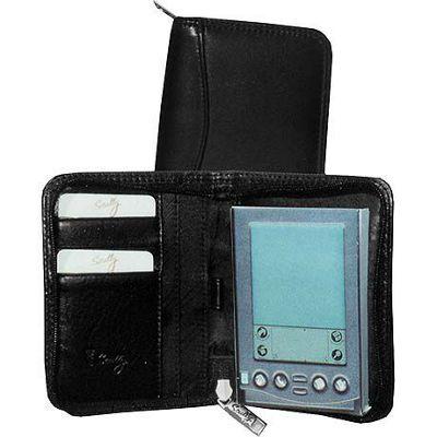 Scully Clafskin Leather Zip PDA Case - Black