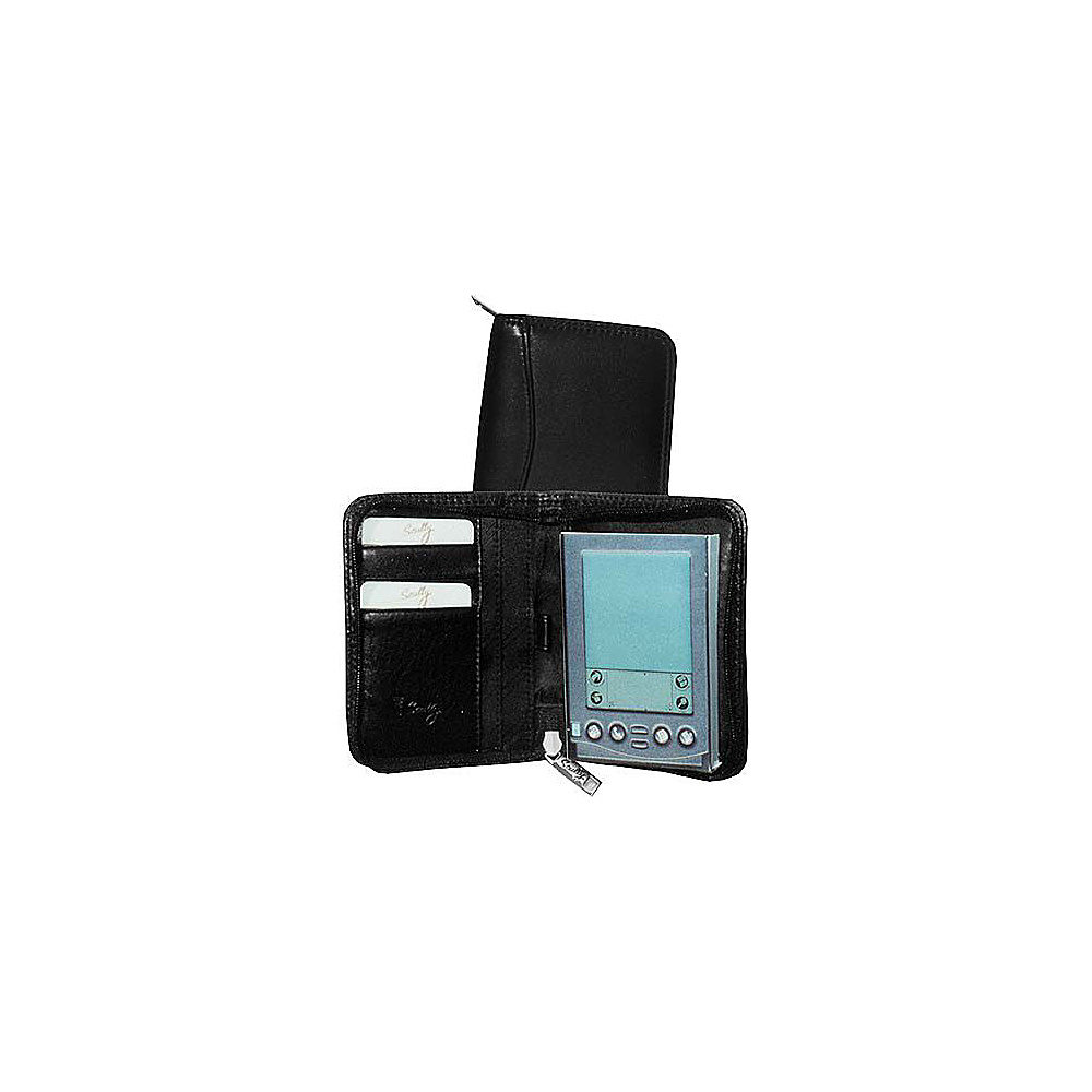 Scully Clafskin Leather Zip PDA Case Black