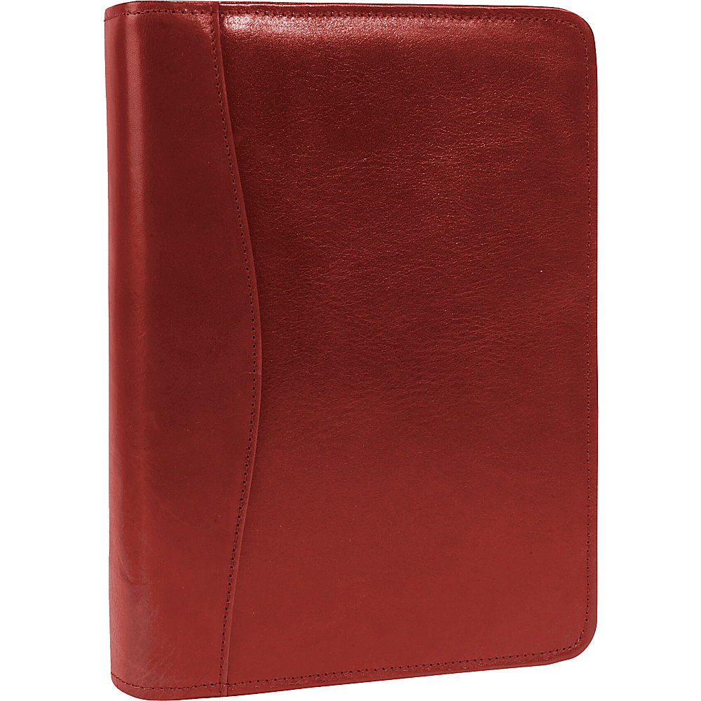 Scully Italian Leather Zip Weekly Organizer Red